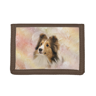 Sable Sheltie face Tri-fold Wallet