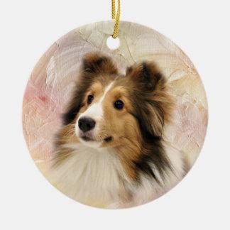 Sable Shetland Sheepdog Ceramic Ornament
