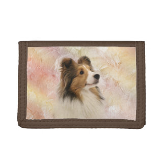 Sable Shetland Sheepdog Trifold Wallet