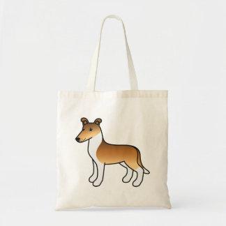 Sable Smooth Collie Cartoon Dog Tote Bag