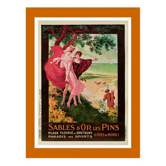 Sables D'Or Les Pins, France Vintage Postcard