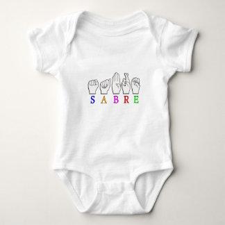 SABRE DEAF FINGERSPELLED ASL NAME SIGN BABY BODYSUIT