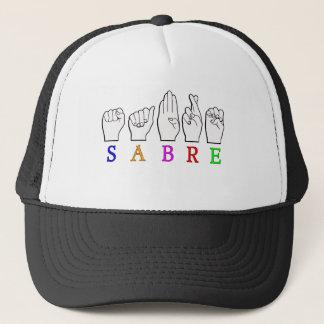 SABRE DEAF FINGERSPELLED ASL NAME SIGN TRUCKER HAT