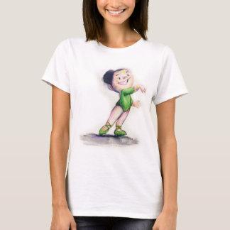Sabrina Ballerina in green T-Shirt