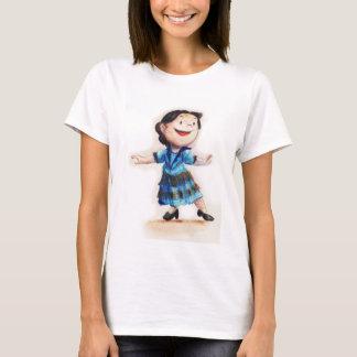 Sabrina Ballerina in to her blue dress. T-Shirt