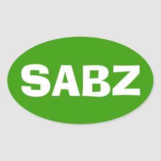 SABZ OVAL STICKER