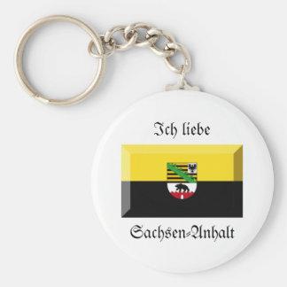 Sachsen-Anhalt Flag Gem Key Chain