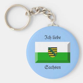 Sachsen Flag Gem Key Chains