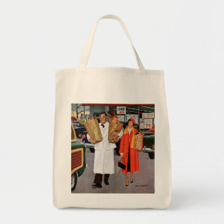 Sack Full of Trouble Grocery Tote Bag