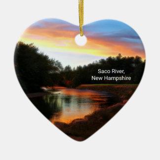 Saco River Heart Ornament