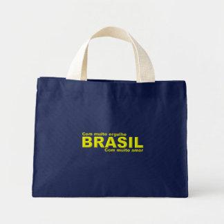 Sacola Brasil Com muito orgulho com muito amor Bolsa