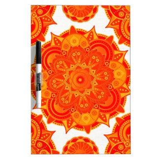 Sacral Chakra Mandala Dry-Erase Whiteboard