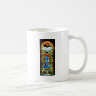 Sacrament of Baptism Stained Glass Art Classic White Coffee Mug
