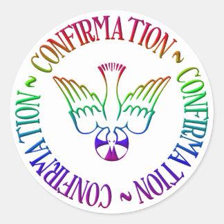 Sacrament of Confirmation - Descent of Holy Spirit Round Sticker