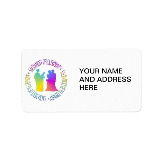 Sacrament of Matrimony Address Label