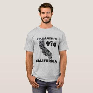 Sacramento 916 Area Code Paisley Bandanna T-Shirt