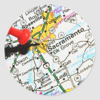 Sacramento, California Classic Round Sticker