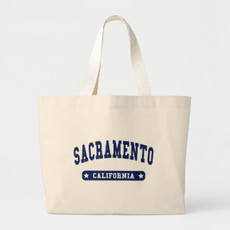 Sacramento California College Style tee shirts Large Tote Bag