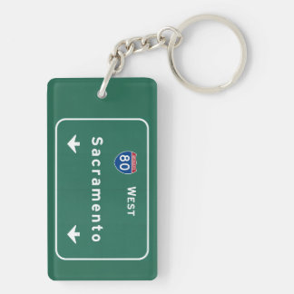 Sacramento California Interstate Highway Freeway : Key Ring