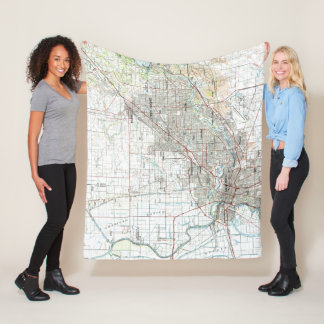 Sacramento California Map (1994) Fleece Blanket