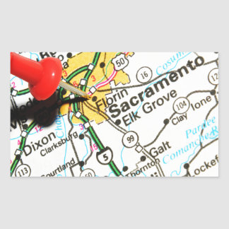 Sacramento, California Rectangular Sticker