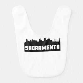 Sacramento California Skyline Baby Bibs