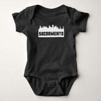 Sacramento California Skyline Baby Bodysuit