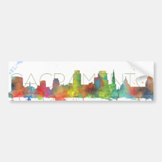 SACRAMENTO, CALIFORNIA SKYLINE-Car Bumper Sticker