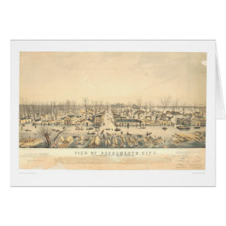 Sacramento During Flood of 1850 (1586A) Card