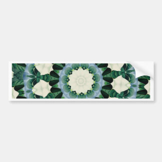 Sacramento Green and Cerulean Blue Mandala Bumper Sticker