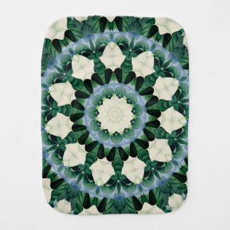Sacramento Green and Cerulean Blue Mandala Burp Cloth