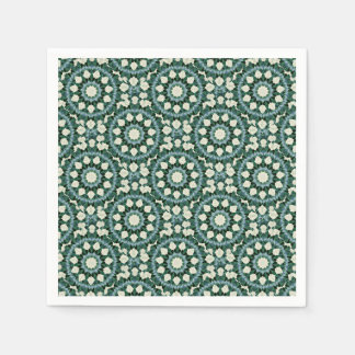 Sacramento Green and Cerulean Blue Mandala Disposable Serviette