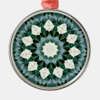 Sacramento Green and Cerulean Blue Mandala Metal Ornament