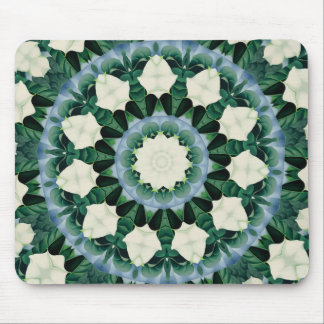 Sacramento Green and Cerulean Blue Mandala Mouse Pad