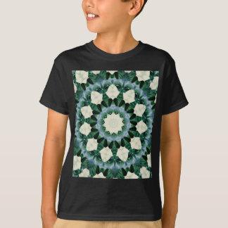Sacramento Green and Cerulean Blue Mandala T-Shirt
