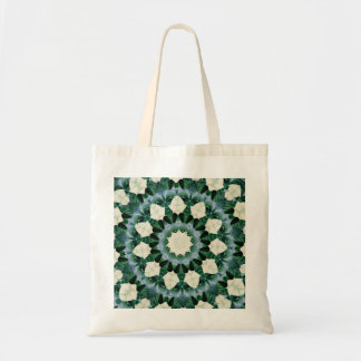 Sacramento Green and Cerulean Blue Mandala Tote Bag