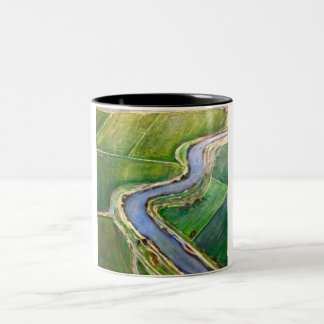 Sacramento River Delta Aerial Two-Tone Coffee Mug