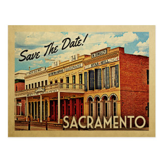 Sacramento Save The Date California Postcard