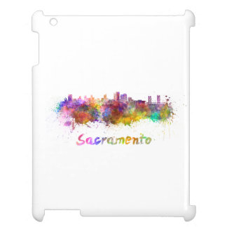 Sacramento skyline in watercolor case for the iPad 2 3 4