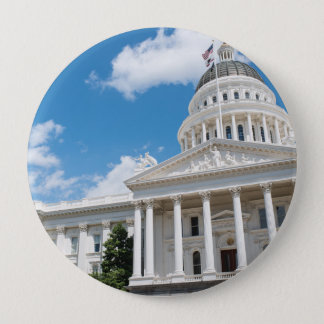 Sacramento State Capitol of California 10 Cm Round Badge