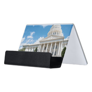 Sacramento State Capitol of California Desk Business Card Holder