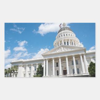 Sacramento State Capitol of California Rectangular Sticker