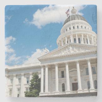 Sacramento State Capitol of California Stone Beverage Coaster