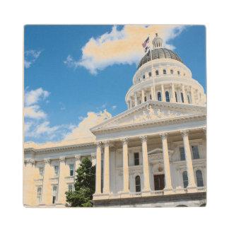 Sacramento State Capitol of California Wood Coaster