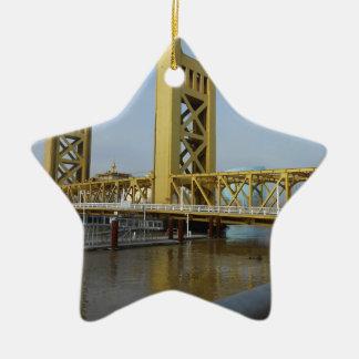 Sacramento Tower Bridge Ceramic Ornament