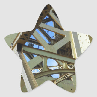 Sacramento Tower Bridge Star Sticker