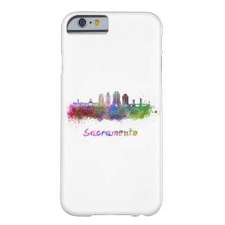 Sacramento V2 skyline in watercolor Barely There iPhone 6 Case
