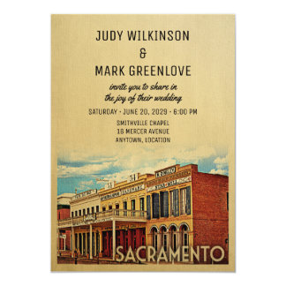 Sacramento Wedding Invitation California
