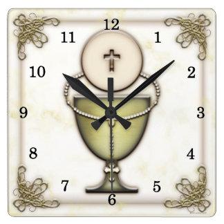 Sacraments Square Wall Clock