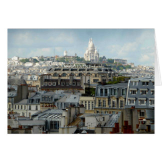 Sacre Coeur and Paris Rooftops Card